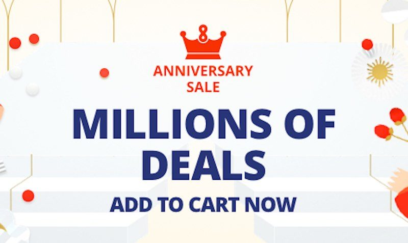 8th Anniversary SALE at AliExpress