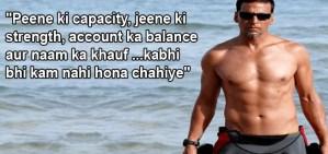 Akshay favourite dialogue