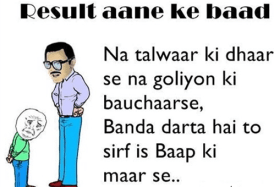 Funny status For Papa After exam- Whatsapp