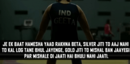 Aamir khan dialogues from bollywood movie Dangal