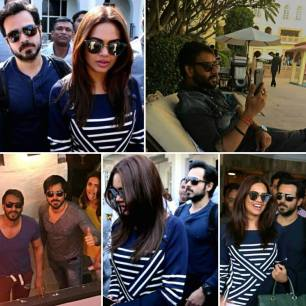 On set photos of all star cast of badshaho movie