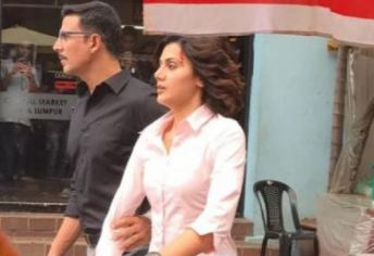 A still from naam shabana shooting