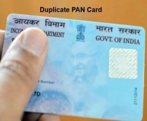 Apply for Duplicate PAN Card