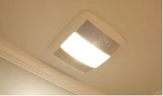 ventilation duct with light