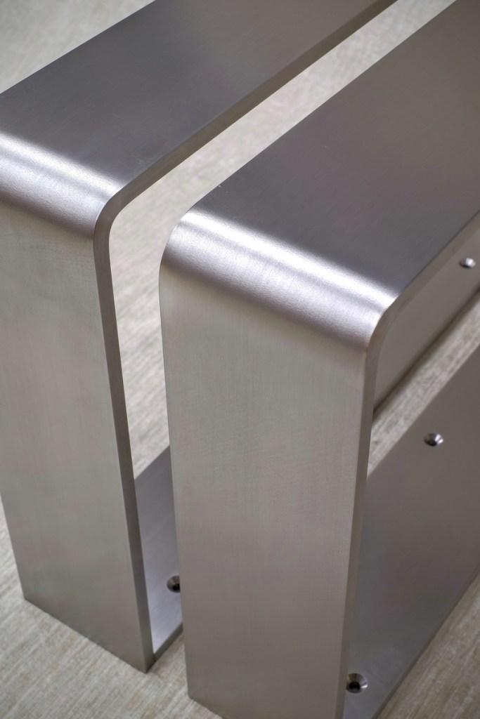 Tischkufen gebogen Edelstahl V2A 1.4301