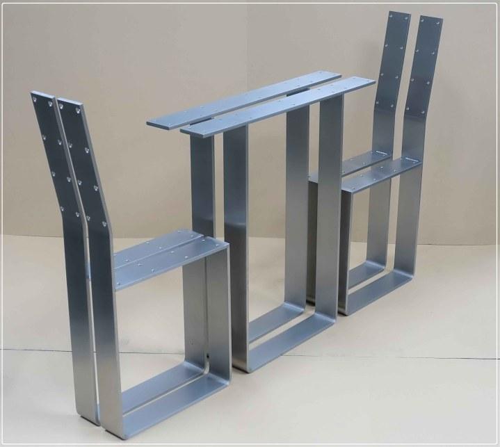 Tischgestell Bankgestell Edelstahl 80x10