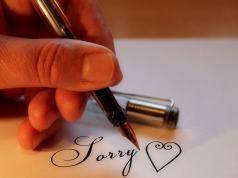 Excuses met edelsteen zeggen sorry
