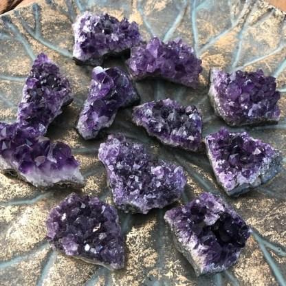 amethist clustertje ruw uruguay mineralen