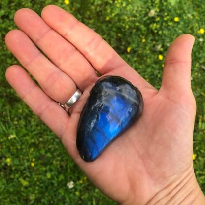 labradoriet half gepolijst spectroliet blauw