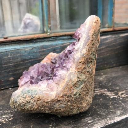 amethist cluster ruw nr1 brazilie mineralen