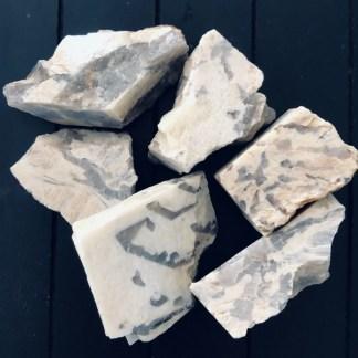 zebra veldspaat ruwe brokjes mineralen