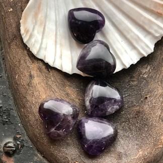 amethist gepolijst hartje mineralen