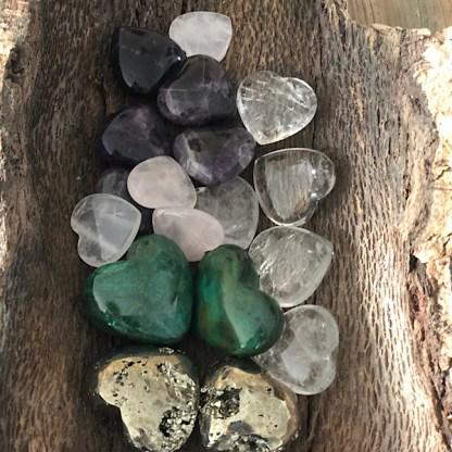 harten en hartjes gepolijst mineralen