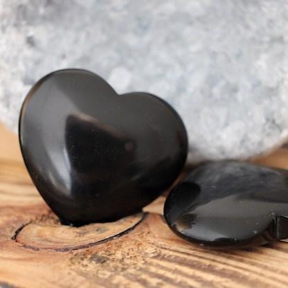 obsidiaan hart gepolijst mineralen vulkanisch glas