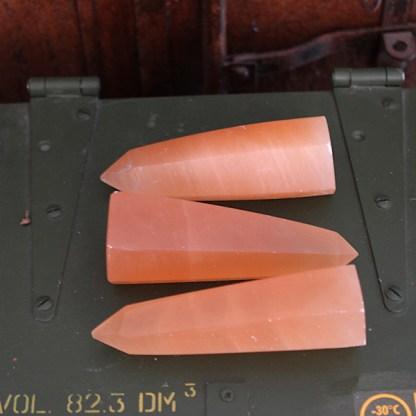 seleniet oranje obelisk punt gepolijst mineralen