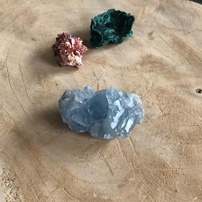 setje celestien malachiet vanadiniet ruw mineralen