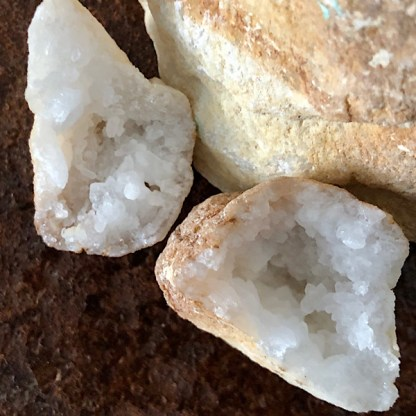 geode bergkristal mini nr2 mineralen kristallen