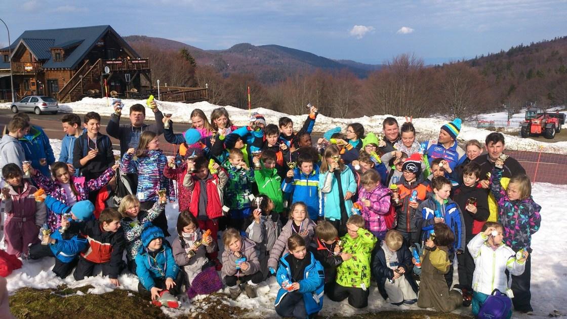 Photo de groupe pour la fin de saison des Mercredis de neige 2016