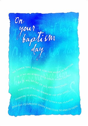 Baptism Card Adult Pack Of 10 Free Delivery When You