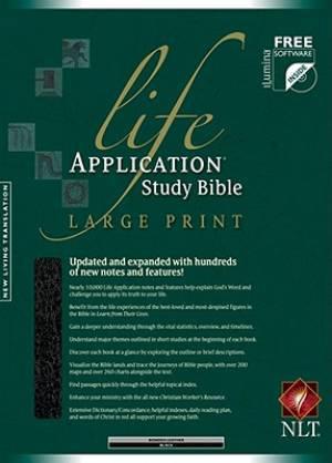 NLT Life Application Study Bible Black Bonded Leather