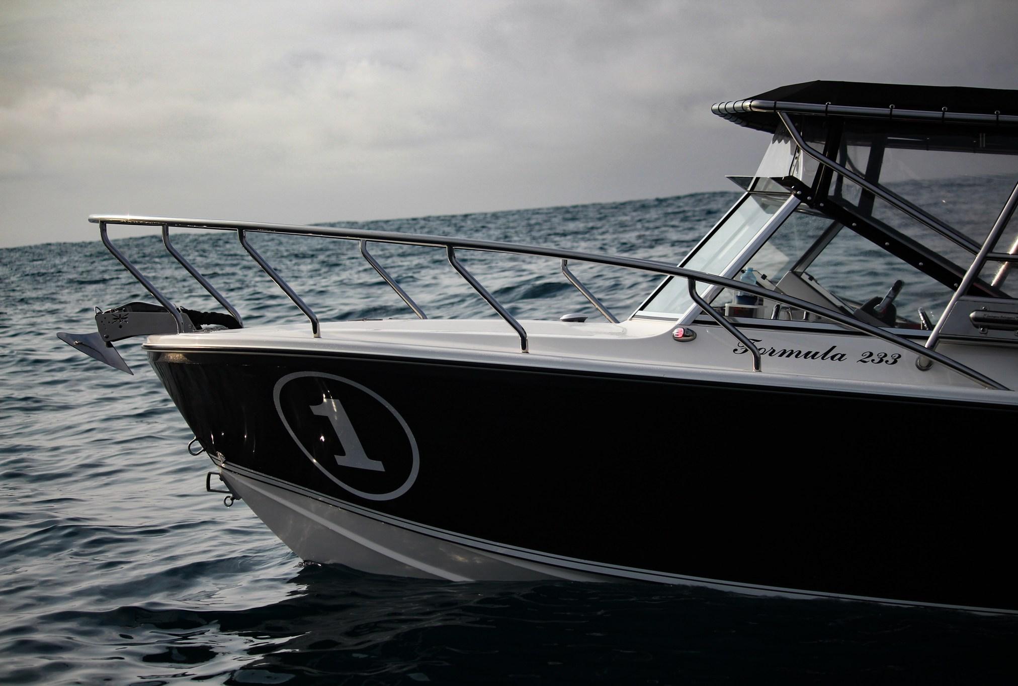 Edencraft 233 Formula Classic at rest offshore