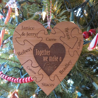 Christmas Family Puzzle Ornament