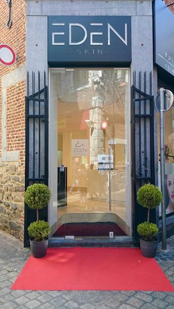 Photo de l'entrée de l'institut Eden Skin de Liège