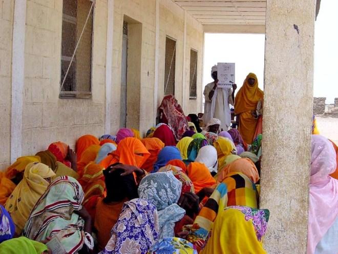 Eritrean women receiving program.
