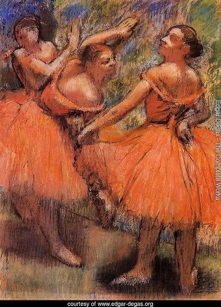 Edgar Degas The Complete Works Red Ballet Skirts