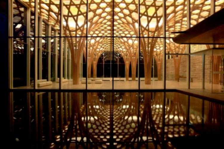 Haesley nine bridges golf clubhouse by Shigeru Ban06