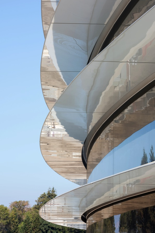 Apple park photo 4 building closeup
