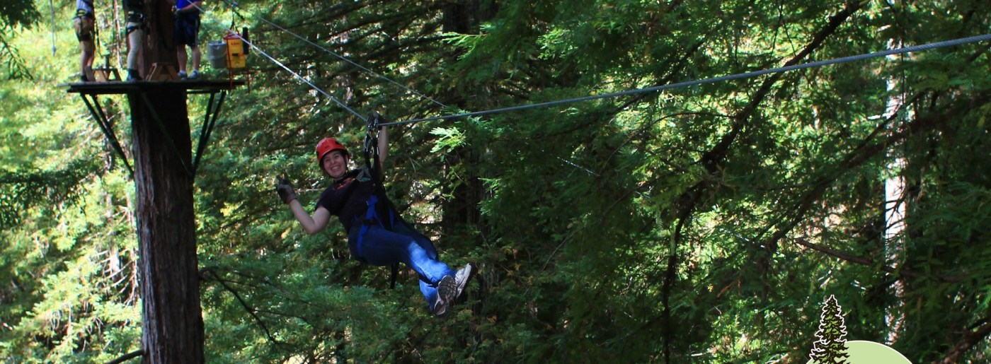Ziplining in Occidental