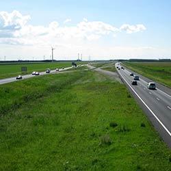 medians and roadsides