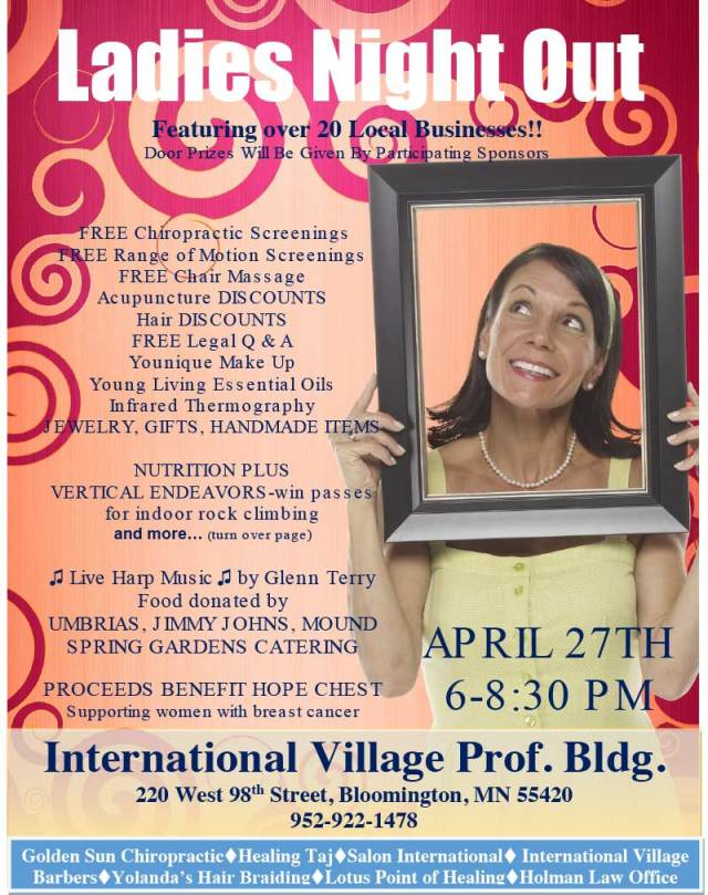 Ladies Night Out benefit for Hope Chest @ International Village Professional Building