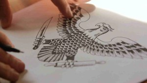 Man drawing an eagle