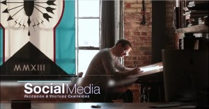 Artist Drawing durring a Corporate video production