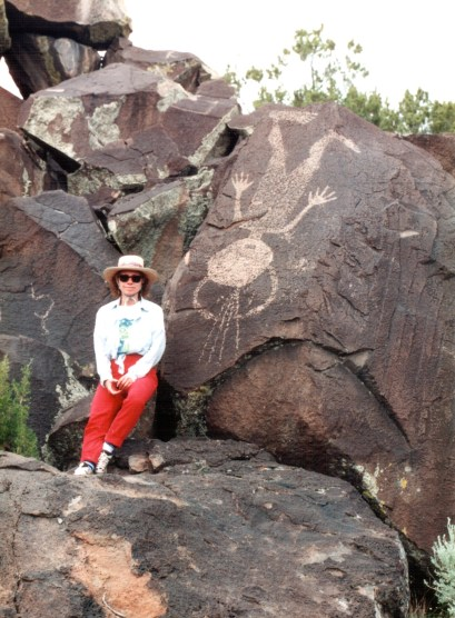 Karen with Petroglyphs