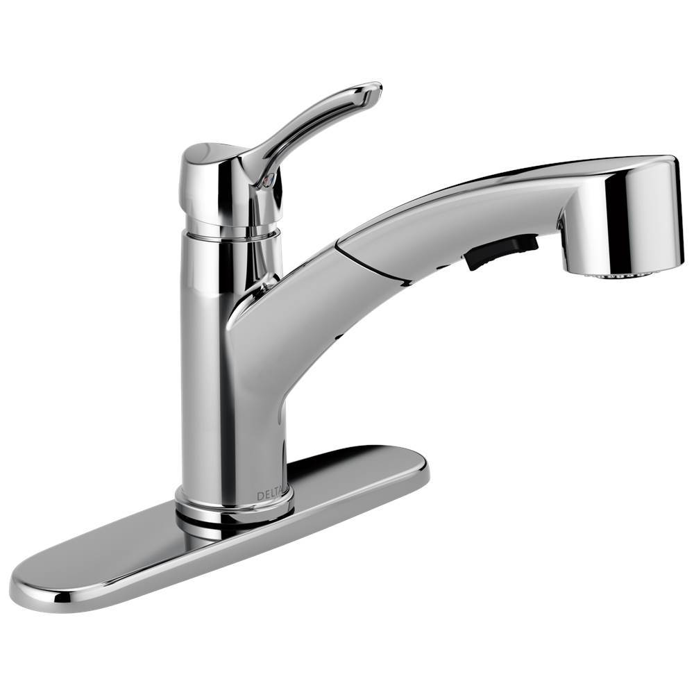collins single handle pull out kitchen faucet