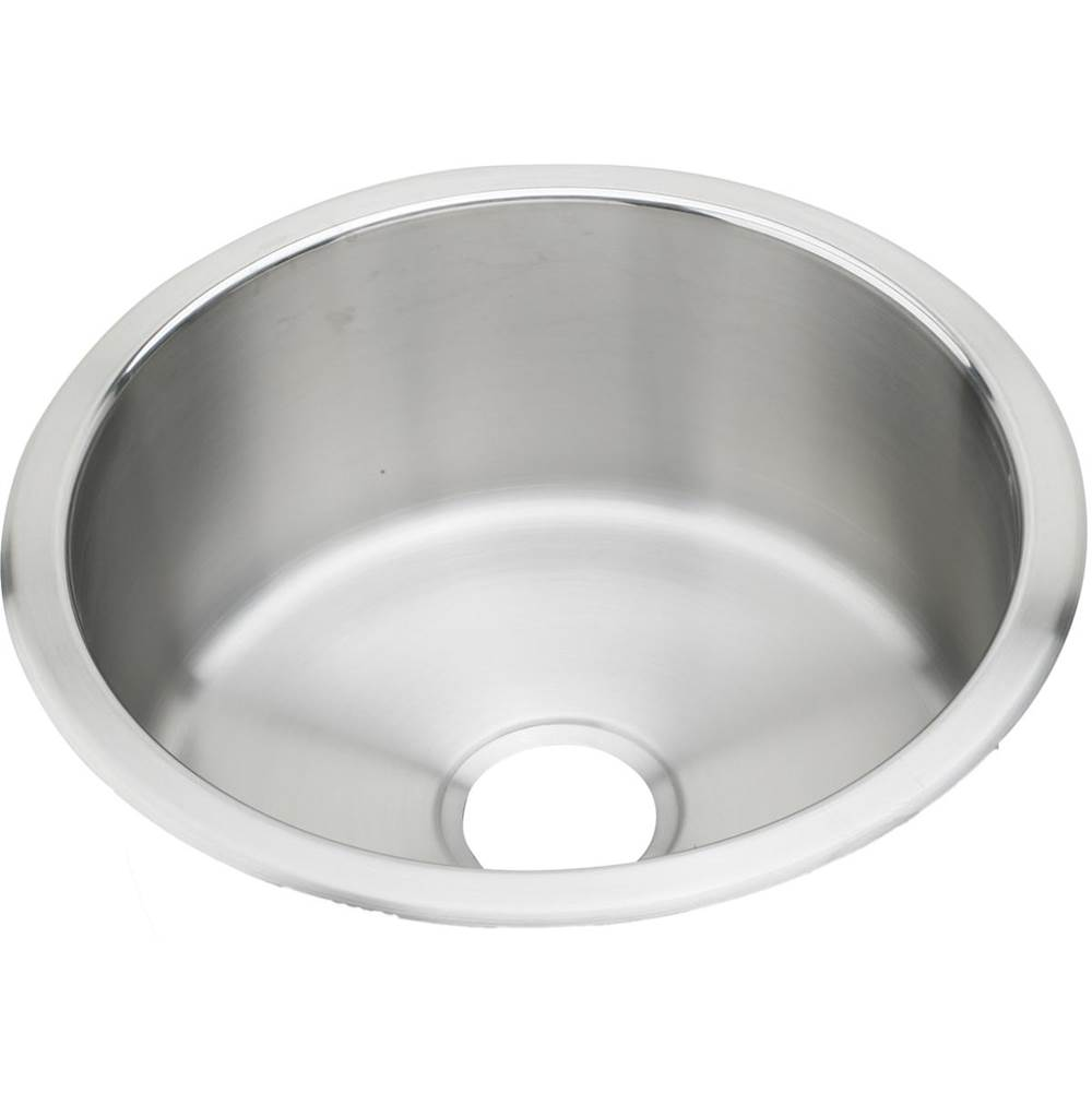 elkay stainless steel 14 3 8 x 14 3 8 x 6 single bowl top mo