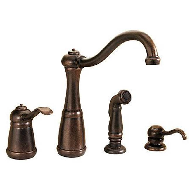 lg26 4nuu rustic bronze single handle kitchen faucet
