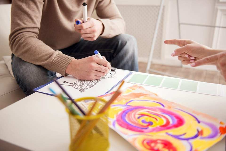 Creative Session using Expressive Art Therapy