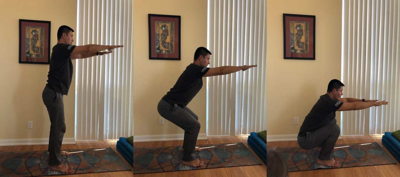 home workout exercises bodyweight squat