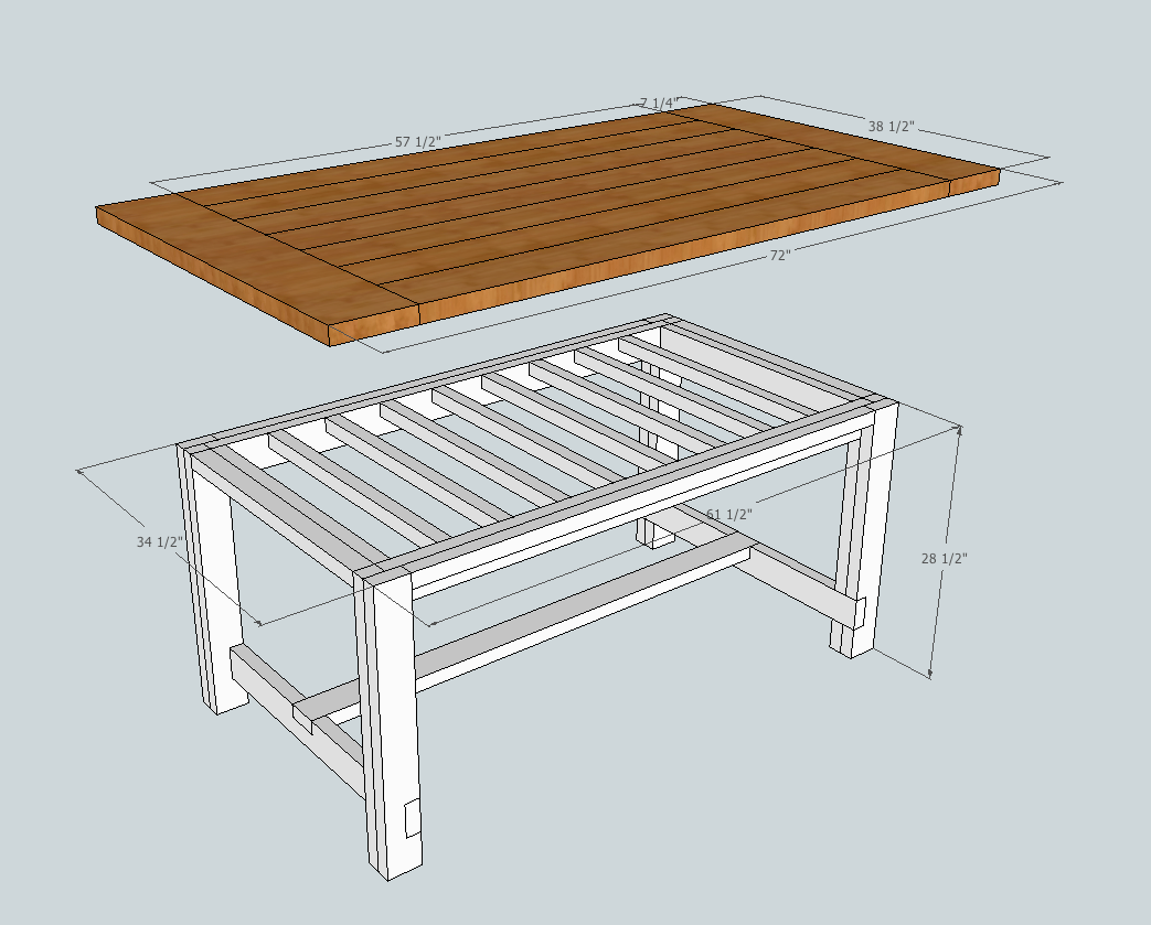 Main Table Dimensions