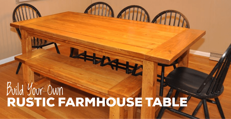 Free And Easy DIY Rustic Farmhouse Table Plan