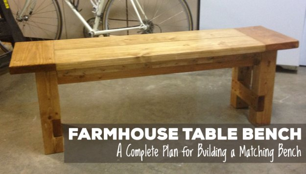 farmhouse bench graphic - Rustic Farmhouse Table