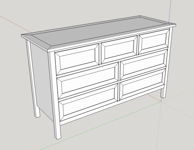 Model of the Kendal Extra Wide Dresser