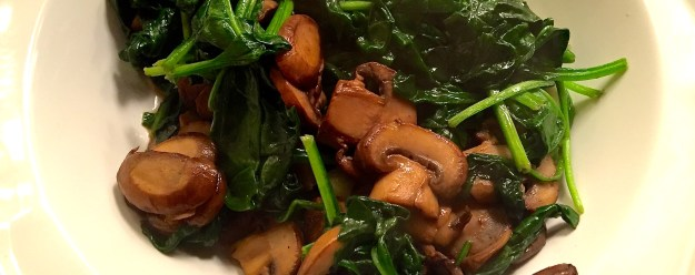 Sauteéd Spinach and Mushrooms