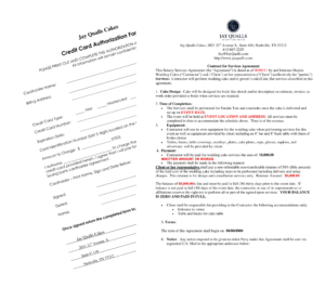wedding cake contracts