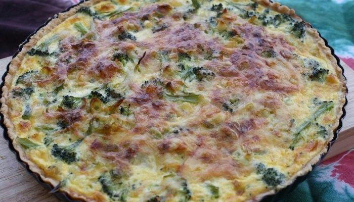 leek brocolli tart