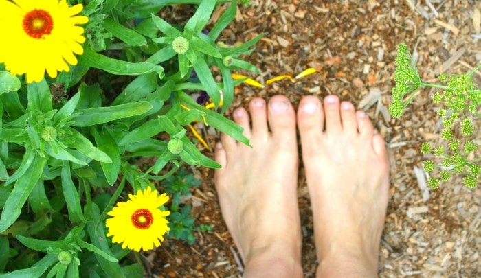 barefoot gardener